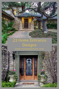 Check out 23 stunning home entrances (photos) Entrance Design, House Entrance, Design Your Home, House Design, Interior Architecture, Interior And Exterior, Home Decor Inspiration, Decor Ideas, Diy Hacks
