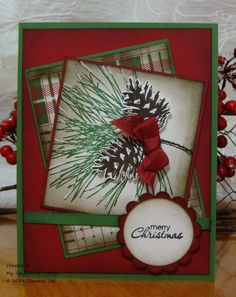 Ornamental Pine © Stampin' Up!, MOJO371. @ My Tanglewood Cottage