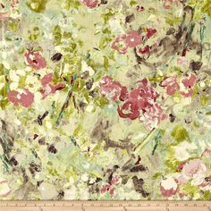 Swavelle/Mill Creek Janette Basketweave Potpourri from @fabricdotcom  This gorgeous medium weight (7.45 oz. per square yard) cotton basketweave fabric is perfect for upholstery projects like chairs, ottomans, sofas and headboards, toss pillows and heavy draperies. Colors include shades of green and pink, teal, cream, grey and purple.