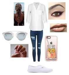 """Untitled #212"" by jacobsbae ❤ liked on Polyvore featuring Topshop, Vans, Christian Dior and Casetify"