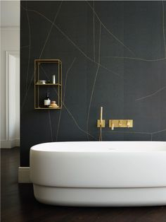 Get Inspired with 20 Luxury Black and White Bathroom Design Ideas - Very Amazing! - Best Home Ideas and Inspiration Modern Bathroom Design, Bathroom Interior Design, Modern House Design, Modern Interior Design, Modern Bathrooms, Bathroom Designs, Interior Ideas, Luxury Interior, Bad Inspiration