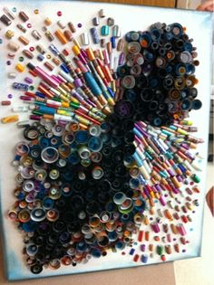 Art at Becker Middle School: Collaboration artwork: 94 7th graders, a three yr. old and Mrs. Hare