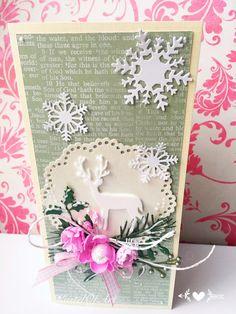 Kartka na Boże Narodzenie z jeleniem christmas card by KastelOfArt