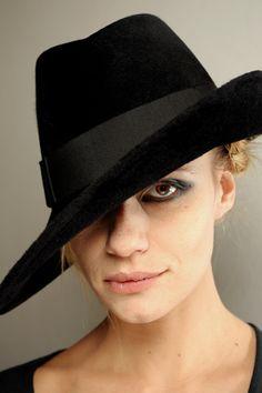 Armani...thanks GERALDINE Wiley.pinterest.com for your fabulous hats