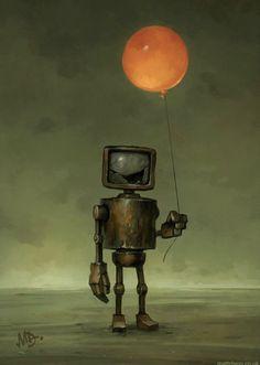 Homepage for illustrator Matt Dixon. Creator of the Transmissions series of robot artwork. Arte Robot, Robot Art, Robots Robots, Matt Dixon, Robots Characters, Arte Obscura, Make Pictures, Robot Design, Art Plastique