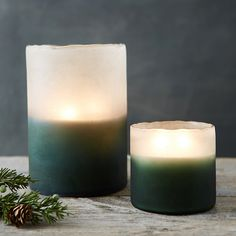 Linnea's Lights Frosted Candle, Forest Fir