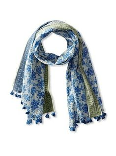 Micky London Women's Floral Saree Scarf, Blue/Green  $39