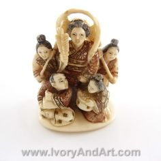 Museum quality - Mammoth Ivory Netsuke – The Lady Master With 4 Servants . This outstanding Netsuke is a proud member of our MASTER Pieces Netsukes collection & of course that he was chosen by our stuff to be one of our favorites Netsukes as well. All our Netsukes are [...]
