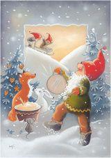 ˇˇ Christmas Gnome, Winter Christmas, Christmas Stockings, Christmas Crafts, Christmas Stuff, Christmas Clipart, Christmas Greetings, Elves And Fairies, Funny Drawings
