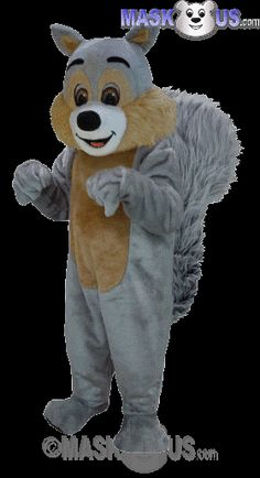Squirrel Mascot Costume T0113 is part of our Animal Mascots Forest Animals Thermo-Lite line. The mascot costume head is constructed out of vaccum-formed styrene for a light-weight, cooler head and includes a screened vision panel, comfort ventilation panels, and a built-in cooling fan. Mascot costume fits most adults ranging from 5'4 inches (162 cm) to 6'2 inches (183 cm) and chest size up to 60 inches (152 cm).