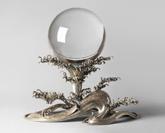 Rock crystal (quartz) ball and silver stand Qing Dynasty China 1944-20-2a,b Philadelphia Museum of Art