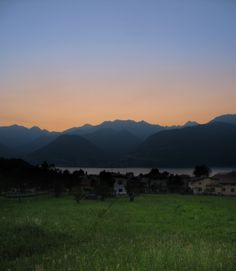 sunset view over Lake of Como