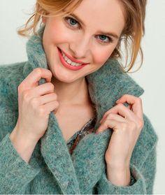 Manteau femme laine bouillie JADE
