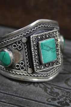 Tribal silver cuff bracelet  old Kuchi jewelry  by AnotherSeason, $150.00