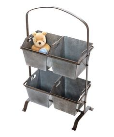 Take a look at this Display Bin Rack by Wilco on #zulily today - if the link no longer works, try searching the web for product and/or manufacturer - great for veggie bins in the kitchen