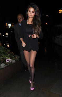 Selena Gomez leaving restaurant in London February 17 2014