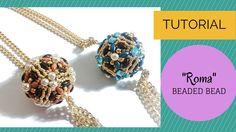 In questo video vi mostro come creare una sfera rivestita con superduo e perline. Materials 20 mm beads Toho 15/0 seed beads - permanent finished galvanized ...