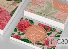 peonies flowers business card by SZeta on Creative Market