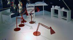 Looksoflat lights, Ingo Maurer installation, Spazio Krizia