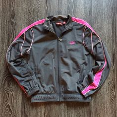 Puma jacket Gently used, there is a little bit of snagging on the back. Puma Jackets & Coats