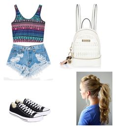"""""""Sans titre #240"""" by israa-samraa ❤ liked on Polyvore featuring Levi's, Converse and River Island"""