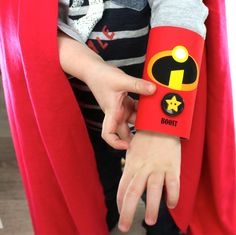 Super Hero Cuffs... made with toilet rolls