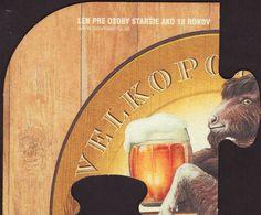 Beer coaster velke-popovice-113 Beer Mats, Beer Coasters, Brewery, Drink, Painting, Collection, Art, Art Background, Beverage