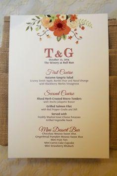 Rustic Vineyard Wedding Reception in Virginia: Tanya + George.  Stationery design via www.minted.com/sem/wedding