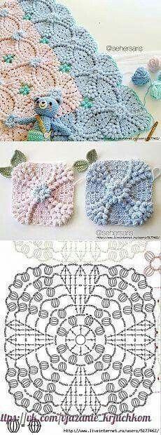 Transcendent Crochet a Solid Granny Square Ideas. Inconceivable Crochet a Solid Granny Square Ideas. Crochet Motifs, Crochet Blocks, Granny Square Crochet Pattern, Crochet Diagram, Crochet Stitches Patterns, Crochet Squares, Crochet Chart, Love Crochet, Crochet Doilies