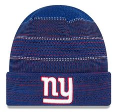 online retailer 79468 6e90d New Era Men s Men s Giants 2017 Sideline Official TD Knit Hat Royal Size  One Size. Lo Sports