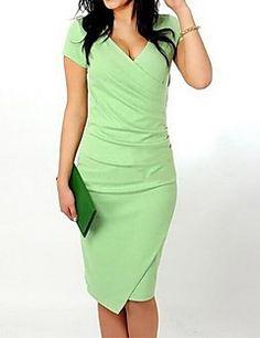 Женское приталенное платье (больше цветов) – USD $ 12.99