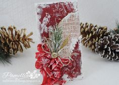 My Little Craft Things: Crafty Cardmakers - #130 - Something Old, Something New pine branch technique
