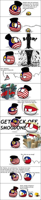 Malaysia's Lament ( Malaysia, Brunei, Singapore, Indonesia, Philippines ) by Toughsnow  #polandball #countryball
