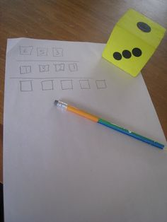 Roll the die to make the largest number - use to practice place value