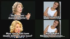HAHAHA! Bela entrevista Marina!