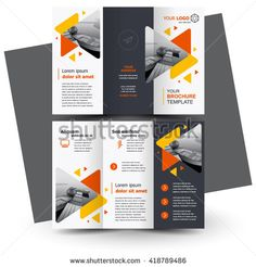 Free editable tri fold brochure template free tri fold brochure brochure design geometric abstract business brochure template creative tri fold trend brochure triangles flashek Image collections