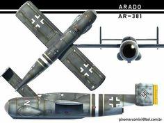 Arado E.381 Julia Luftwaffe, Ww2 Aircraft, Military Aircraft, Cruise Missile, Focke Wulf, Experimental Aircraft, Ww2 Planes, Aichi, Vintage Airplanes