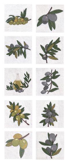 Cross Stitch Olive Way Embroidery Machine Design Details