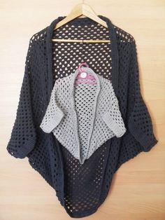 Kabátek ze čtverce   - NÁVODY NA HÁČKOVÁNÍ Love Crochet, Crochet Baby, Crochet Shawls And Wraps, Baby Car Seats, Sewing, Knitting, Womens Fashion, Clothes, Beachwear Fashion