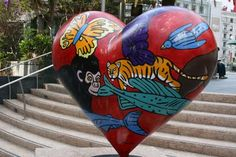 Love the Animal heart sculpture