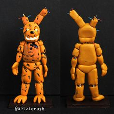 Spring Trap Polymer Clay Figurine from Five nights by ArtzieRush