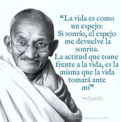 """An eye for eye will only make the entire world blind"" - Mahatma Gandhi. This Gandhi Jayanti, let's pledge to be inspired by his teachings and spread peace and happiness to others in our own small ways! Mahatma Gandhi Jayanti, Happy Gandhi Jayanti, Mahatma Gandhi Quotes, Quotes En Espanol, Spanish Quotes, Self Help, Quotations, Life Quotes, Inspirational Quotes"