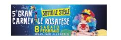 2014 - CARNEVALE - Rosà, about 21 miles northeast of Vicenza, 6 p.m. food booths open; 8 p.m. float parade; 10:30 p.m. award ceremony for the best float.