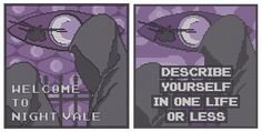 Welcome to Night Vale cross stitch charts. Free PDF Downloads as always. Wtnv quotes xstitch