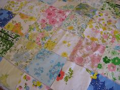 Another use for old sheets...easy quilts!