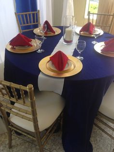Fourth of July table setting by RENTALEX