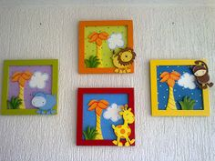 infantiles Foam Crafts, Diy And Crafts, Crafts For Kids, Paper Crafts, Arte Country, Pintura Country, Baby Decor, Kids Decor, Painting For Kids