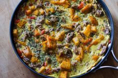 Sausage and Butternut Squash Frittata | 17 Insanely Delicious Ways To Cook Butternut Squash This Fall