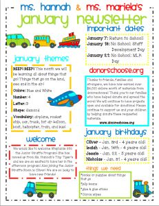 Preschool Newsletter Template The Crafty Teacher