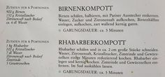 Birnenkompott und Rhabarberkombott